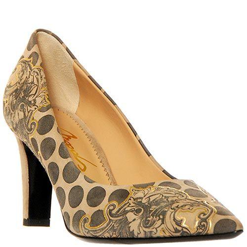 Замшевые туфли Marino Fabiani серо-бежевые, фото