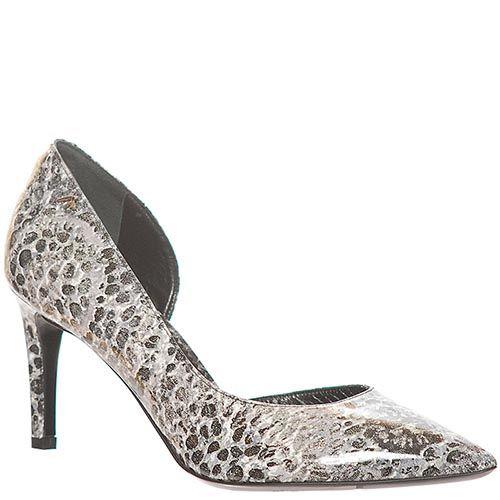 Туфли кожаные Marino Fabiani серого цвета, фото