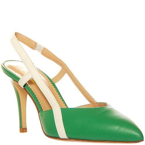 Босоножки Marino Fabiani из натуральной кожи зеленого цвета на шпильке, фото