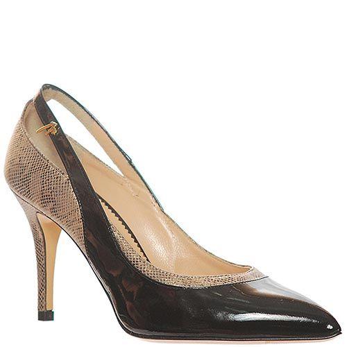 Туфли Marino Fabiani из натуральной кожи черного цвета, фото