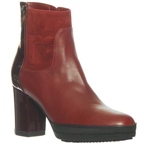 Ботинки Marino Fabiani из натуральной кожи бордового цвета, фото