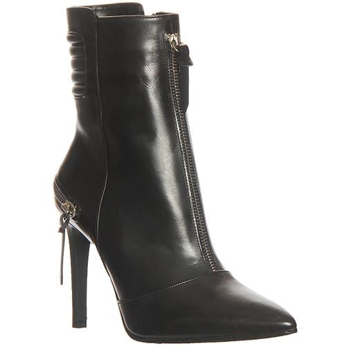Демисезонные кожаные ботинки Marino Fabiani черного цвета, фото