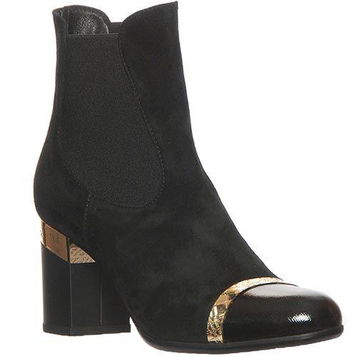 Демисизонные замшевые ботинки Marino Fabiani черного цвета, фото