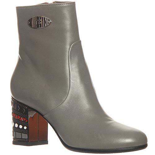 Ботинки Marino Fabiani из натуральной кожи серого цвета, фото