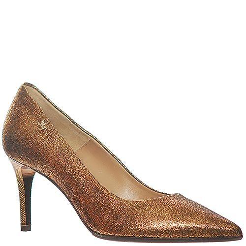 Туфли Marino Fabianiбронзового цвета на высоком каблуке, фото