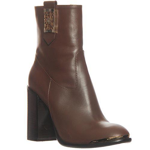 Демисезонные кожаные ботинки Marino Fabiani коричневого цвета, фото