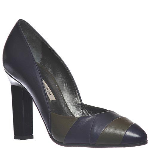 Кожаные туфли Marino Fabiani сине-зеленые, фото