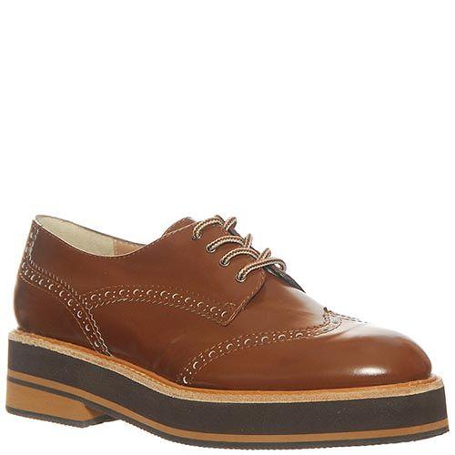 Туфли Marino Fabiani из натуральной кожи коричневого цвета, фото