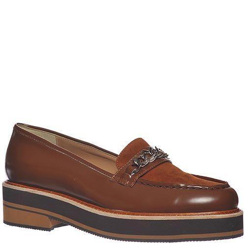 Туфли Marino Fabiani из натуральной кожи коричневые, фото
