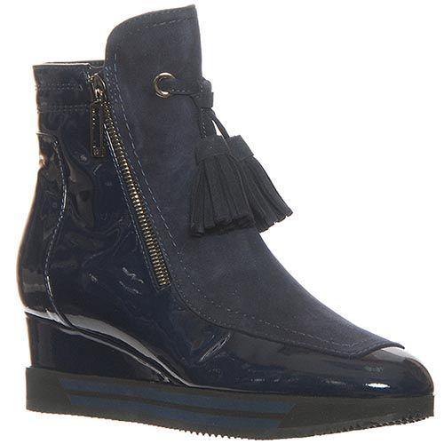 Кожаные ботинки Marino Fabiani синего цвета, фото