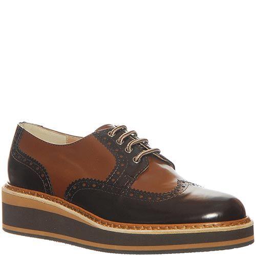 Кожаные туфли Marino Fabiani коричневого цвета, фото