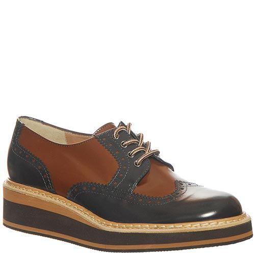 Кожаные туфли Marino Fabiani коричнево-синие, фото