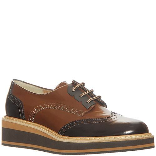 Кожаные туфли Marino Fabiani черно-коричневые, фото