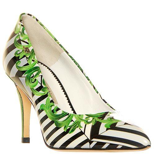 Кожаные туфли Marino Fabiani черно-зеленые, фото