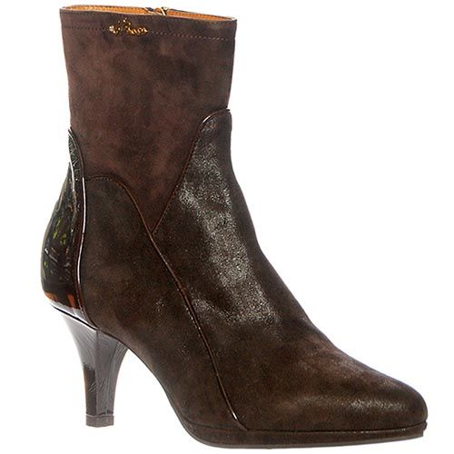 Замшевые ботинки Giorgio Fabiani шоколадного цвета на молнии, фото