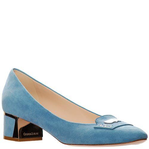 Замшевые туфли Giorgio Fabiani голубого цвета, фото