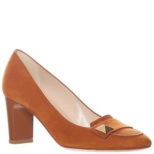 Замшевые туфли Giorgio Fabiani темно-желтого цвета, фото