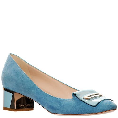 Замшевые туфли Giorgio Fabiani голубые, фото