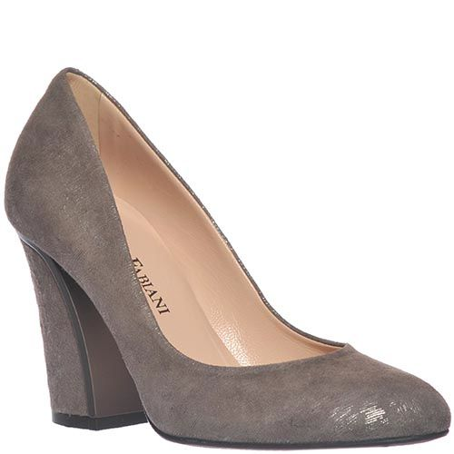 Женские туфли Giorgio Fabiani серого цвета на высоком устойчивом каблуке, фото