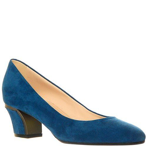 Замшевые туфли Giorgio Fabiani синего цвета, фото