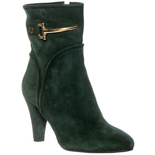 Демисезонные замшевые ботинки Giorgio Fabiani зеленого цвета, фото