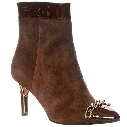 Демисезонные замшевые ботинки Giorgio Fabiani коричневого цвета на молнии, фото