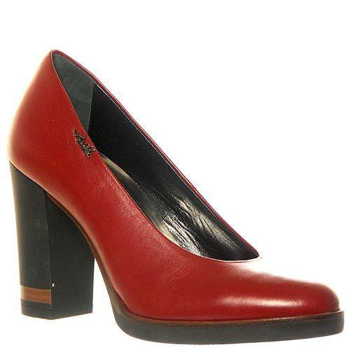 Туфли Loriblu из натуральной кожи красного цвета, фото