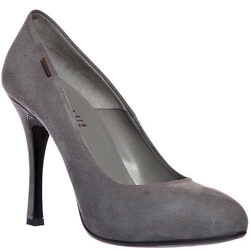 Замшевые туфли Loriblu серого цвета, фото