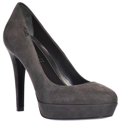 Замшевые туфли Loriblu серые, фото