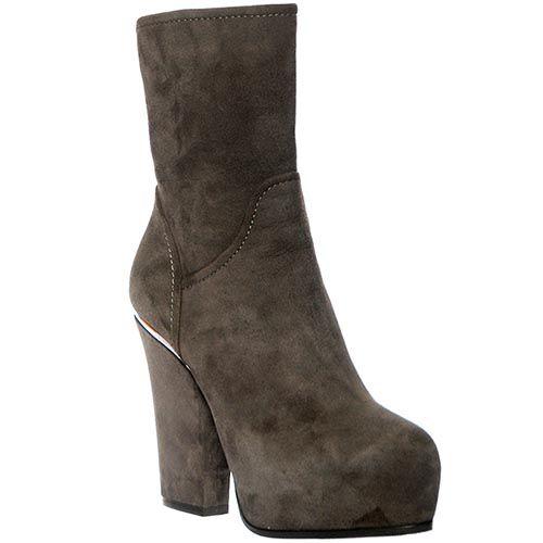 Замшевые ботинки Loriblu серого цвета, фото
