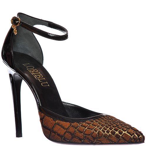 Туфли Loriblu из натуральной кожи коричневого цвета, фото
