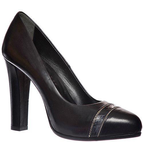 Туфли Loriblu из натуральной кожи черного цвета, фото