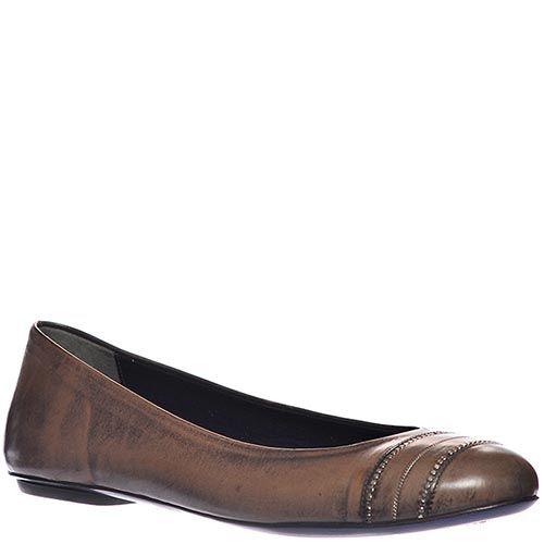 Туфли Loriblu из натуральной мягкой кожи коричневого цвета, фото