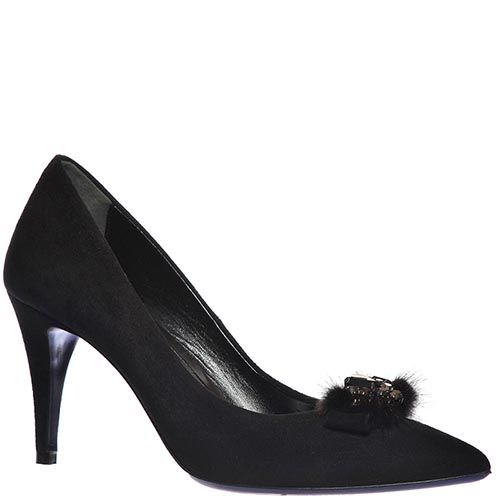 Замшевые туфли Loriblu черного цвета, фото