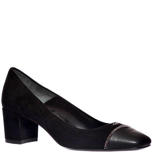 Замшевые туфли Loriblu коричневого черного на высоком каблуке, фото