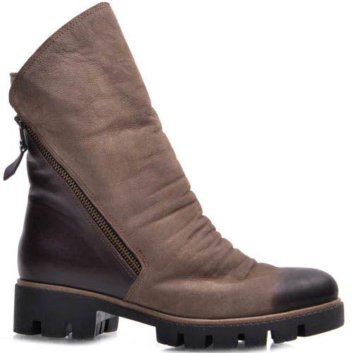 Ботинки Guero зимние из нубука коричневого цвета, фото