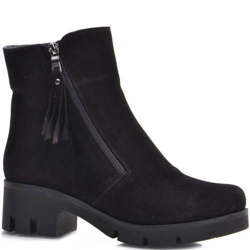 Ботинки Guero зимние замшевые с кисточкой на собачке молнии, фото