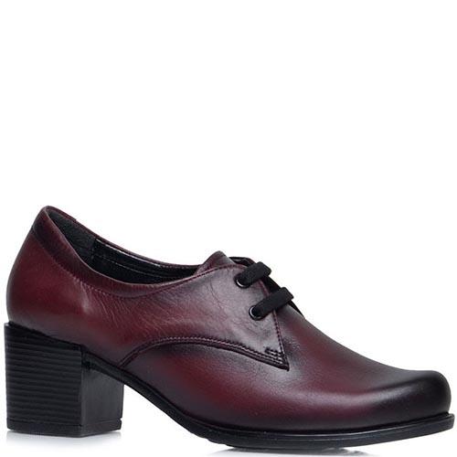 Ботильоны Prego бордового цвета на среднем каблуке, фото