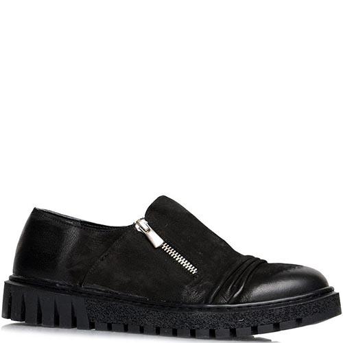 Туфли Prego черного цвета на толстой подошве, фото