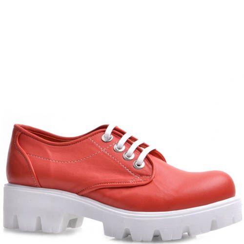 Ботинки Prego на широкой подошве кораллового цвета, фото