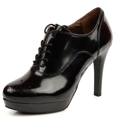 Женские кожаные туфли Tosca Blu черные, фото