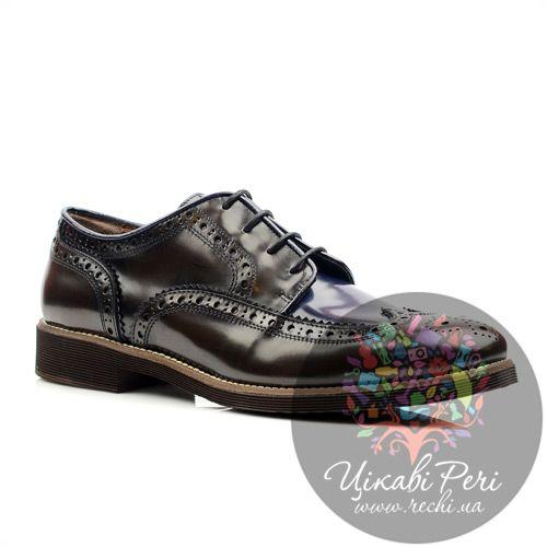 Женские кожаные туфли с перфорацией Tosca Blu, фото
