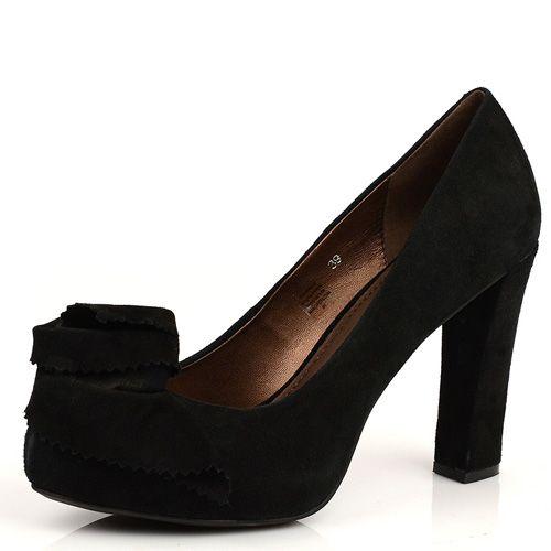 Женские замшевые туфли Tosca Blu черные, фото
