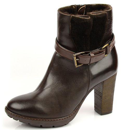 Коричневые зимние ботиночки на меху Tosca Blu, фото