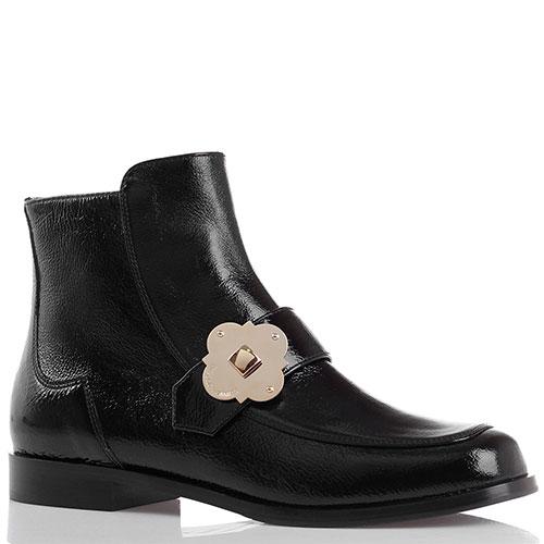 ☆ Ботинки Emporio Armani из черной лаковой кожи tol-1442-ea купить ... a97de458945