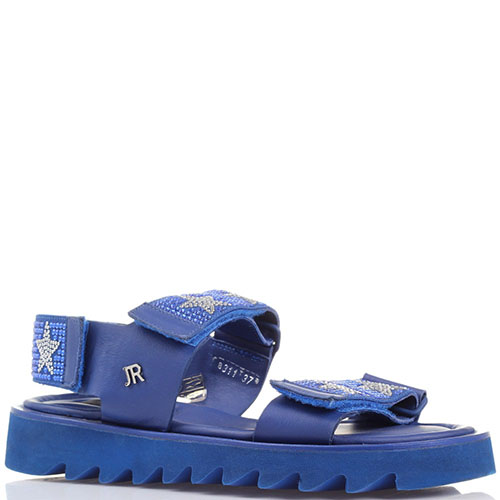 Босоножки на липучках John Richmond синего цвета, фото