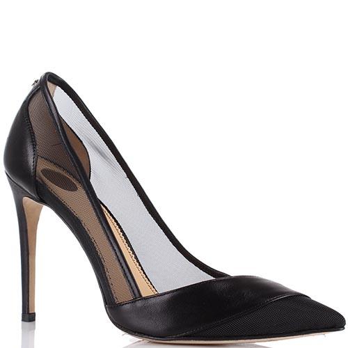 Черные туфли Elisabetta Franchi на высоком каблуке, фото