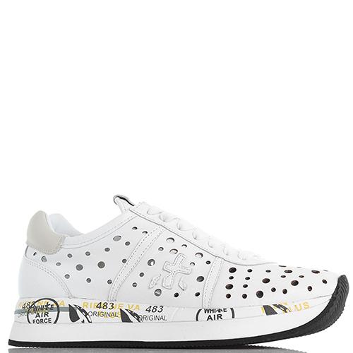 d479c437 ☆ Белые женские кроссовки Premiata на толстой подошве купить в ...