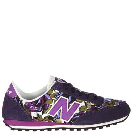 Кроссовки New Balance женские фиолетового цвета с цветочным принтом, фото