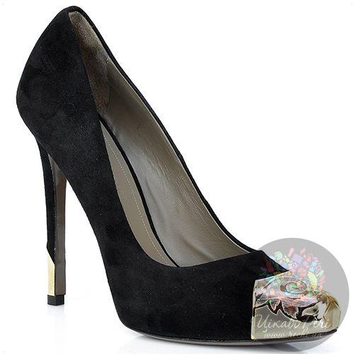 Туфли Versace Collection замшевые с декорированным носком и шпилькой, фото